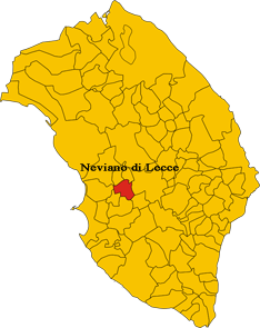Map of comune of Neviano