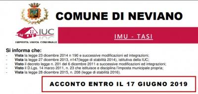 IMU – TASI – Acconto entro il 17 giugno 2019
