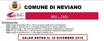 IMU – TASI – Saldo entro il 16 dicembre 2019