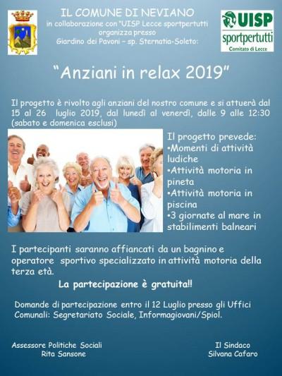 Anziani in relax 2019